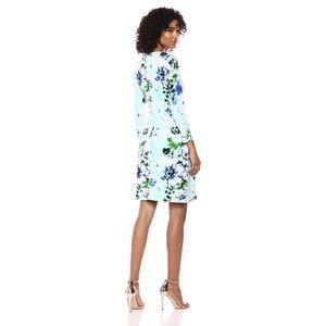 Calvin Klein Dresses - Calvin Klein 3/4 Sleeve Printed Mock Wrap Dress